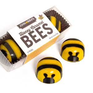 Chocolate Honey Caramel Bees 3pc