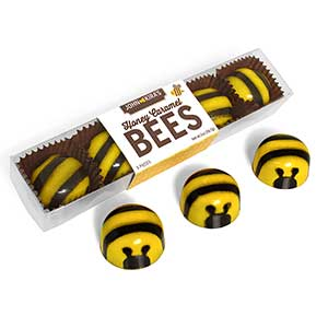 Chocolate Honey Caramel Bees 5pc