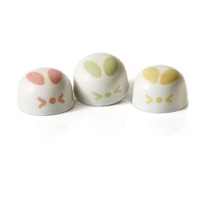 Chocolate Cottontail Bunnies 3pc