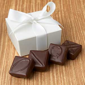 Every Flavor Chocolates Favor 4pc: Ribbon