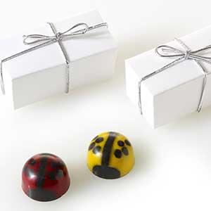 Ladybug Favor 2pc: Silver Cord