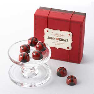 Ganache Red Lovebug Chocolates 9pc