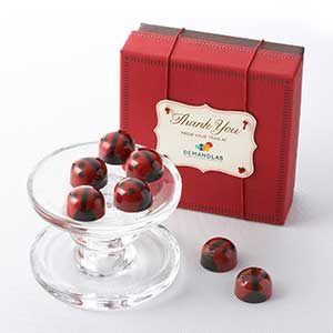 Ganache Red Lovebug Chocolates 9pc - Business