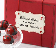 Red Ganache Ladybug Chocolates 9pc - Business