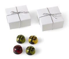 Ladybug Favor with Silver Cord 4pc 