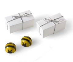 Bee Favor with Silver Cord 2pc 