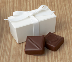  Chocolate Favor with Ribbon 2pc 