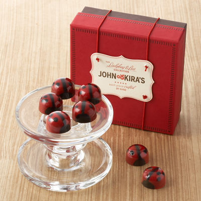 Red Ganache Ladybugs 9pc - Thank You