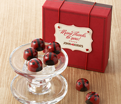 Red Ganache Ladybugs 9pc - Thank You