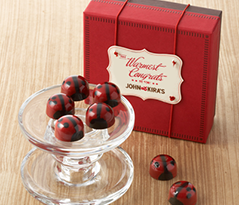 Red Ganache Ladybugs 9pc-Congrats