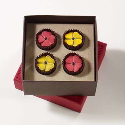 Chocolate Wildflowers 4pc