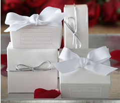 Chocolate Favor with Silver Cord 4pc