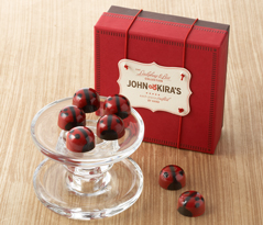 Red Ganache Ladybugs 9pc