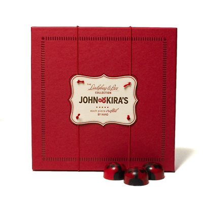 Red Ganache Lovebug Chocolates 16pc