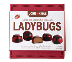 Praline Red Ladybug Chocolates 9pc